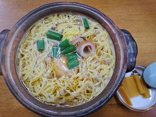 「鍋焼きラーメン(普)」@橋本食堂の写真