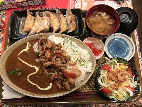 「餃子(ケバブカレーセット)」@いわま餃子~EXOTIC DINING~の写真