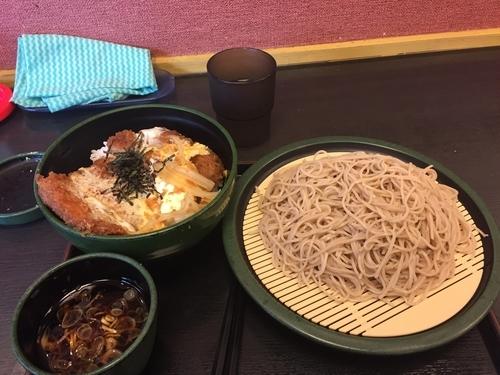 「ジャンボカツ丼セット(冷し)」@ゆで太郎 代々木東口店の写真