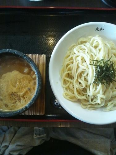 「坦々つけ麺(味玉トッピング)」@つけ麺 丸和 弥富店の写真