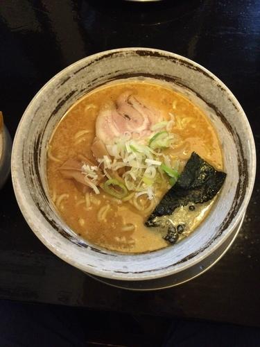 「味噌ラーメン(750円)+ごはんバイキング(100円)」@かいらぎ 二代目の写真