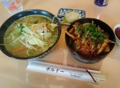 「ランチセット(タンメン、焼き肉丼)」@レストハウス ボルドーの写真