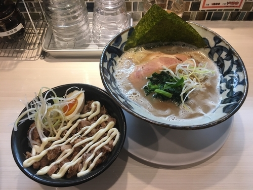 「豚そば&焼豚丼」@八の坊の写真