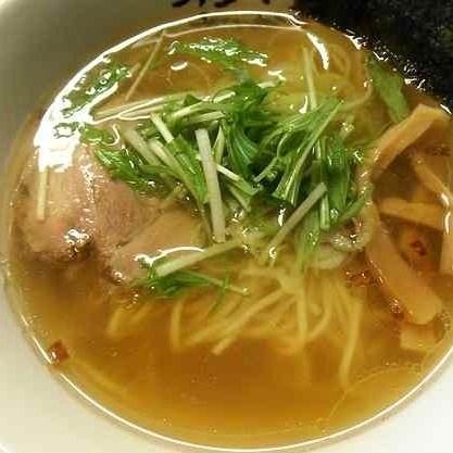 「和風塩らーめん(ストレート麺) ¥700」@麺屋彩月の写真