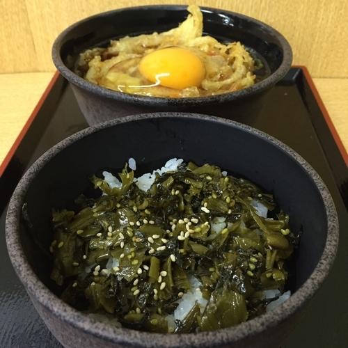 「朝定食B(¥360)+かき揚げ(クーポン)」@ゆで太郎 大森入新井店の写真