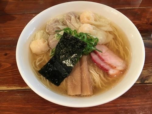 「特製ワンタン麺 白 大盛」@八雲の写真