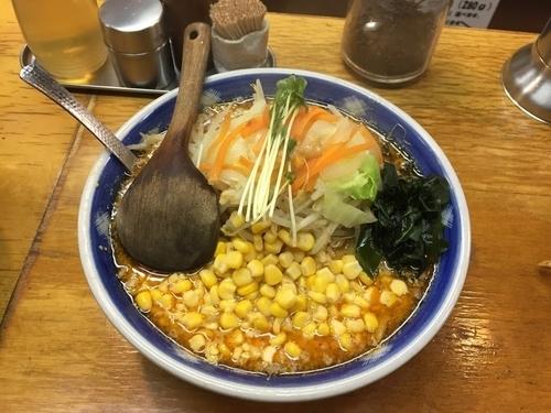 「背脂チャッチャ ピリ辛コーン」@味噌一 高円寺店の写真