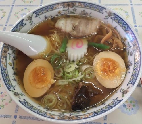 「ラーメン+煮玉子(¥600+¥100)」@富士屋の写真