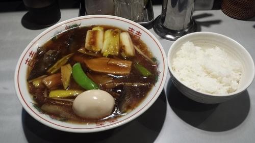 「【限定】なまこと焼き葱醤油煮込みそば980円ライス100円」@中華蕎麦 瑞山(ZUIZAN)の写真