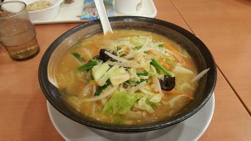 「味噌野菜らーめん餃子セット」@幸楽苑 取手店の写真