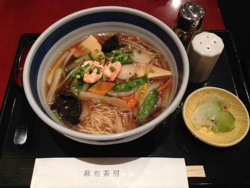 「海老と野菜のあんかけラーメン」@麻布茶房 丸井錦糸町店の写真