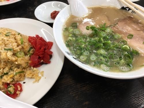 「チャーハンセット」@博多長浜ラーメン風び 原本店の写真