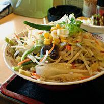 「みそラーメン280円+定食のおかずだけ420円」@食事処 禅の写真