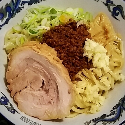 「【限定】肉!!油そば 850円」@特級鶏蕎麦 龍介の写真