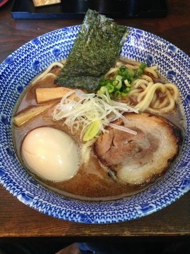 「節そば  味玉(ラーパス)」@麺屋たつみ 喜心 秩父店の写真
