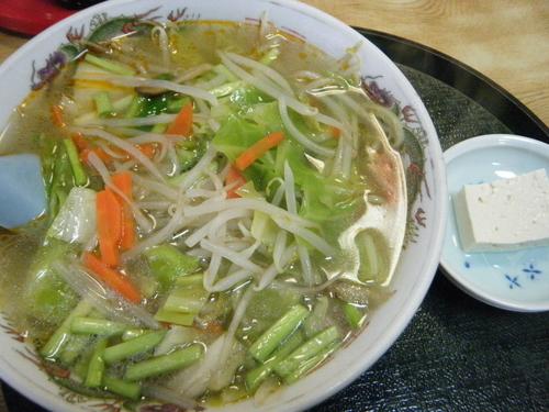 「タンメン600円」@奈可゛島食堂の写真