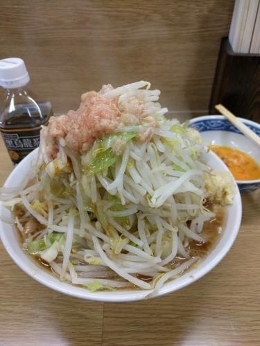 「ラーメン+生卵(全増し)」@ラーメン二郎 栃木街道店の写真
