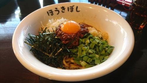 「台湾まぜそば(スープ付)」@自家製麺 ほうきぼし 茅ケ崎店の写真