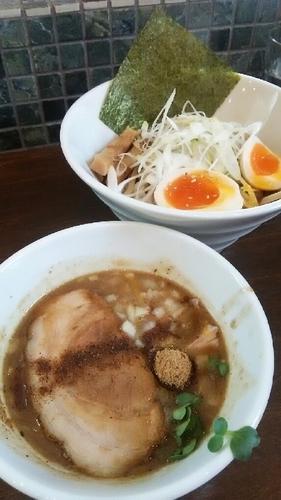 「特製つけ麺(中盛り)」@麺屋みつばの写真