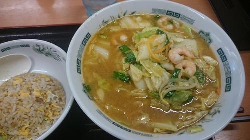 「【季節限定】海老味噌ラーメン」@日高屋 両国東口店の写真