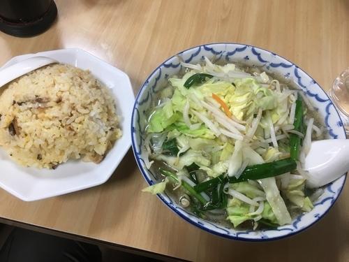「たん麺セットチャーハン800円」@山田屋の写真