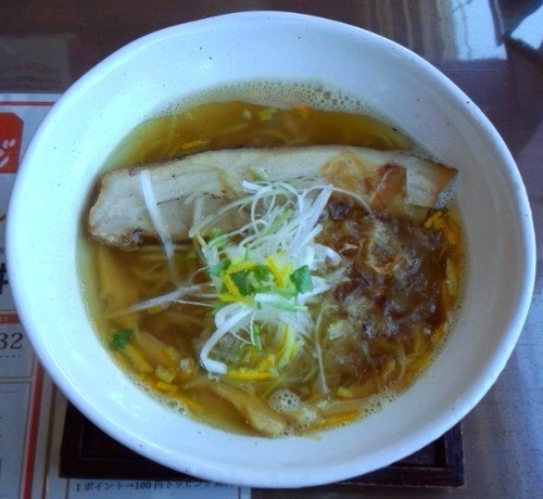 「和風柚子塩麺(1・2月限定)720円」@麺工房 かなでの写真