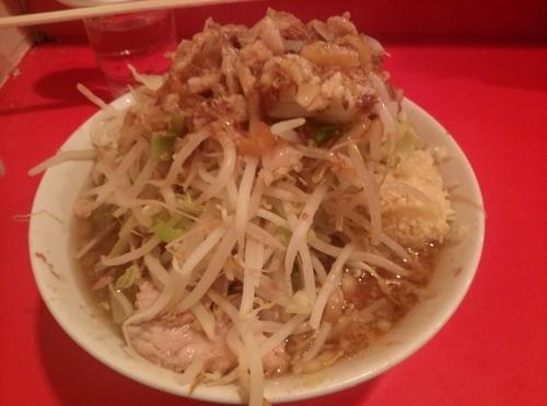 「小ラーメン野菜ニンニク脂カラメ」@ラーメン二郎 府中店の写真