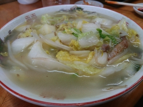 「タンメン+餃子」@香 東中神店の写真