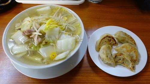 「湯麺(650円)+餃子(350円)」@うな瀧の写真