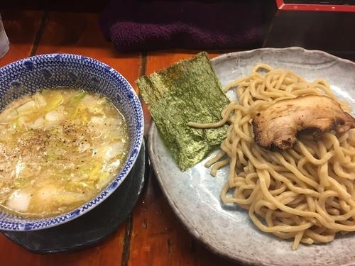 「塩つけ麺・中・熱盛り(880円)」@つけ麺 紫匠乃 門前仲町店の写真