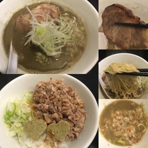 「煮干中華そばEX-HARD +ニボバタご飯」@煮干中華そば のじじの写真