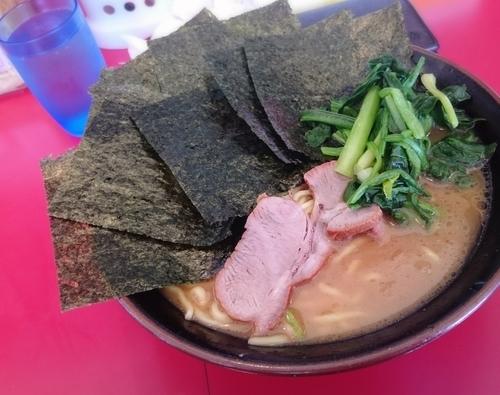 「ラーメン 海苔増 590円」@家系ラーメン 王道の写真