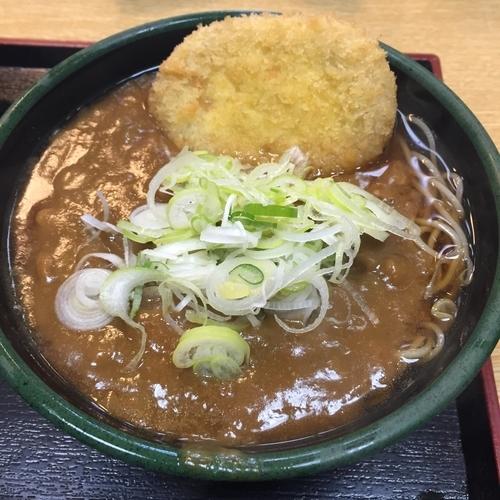 「カレー(¥400)※+コロッケ(クーポン)」@ゆで太郎 高輪店の写真