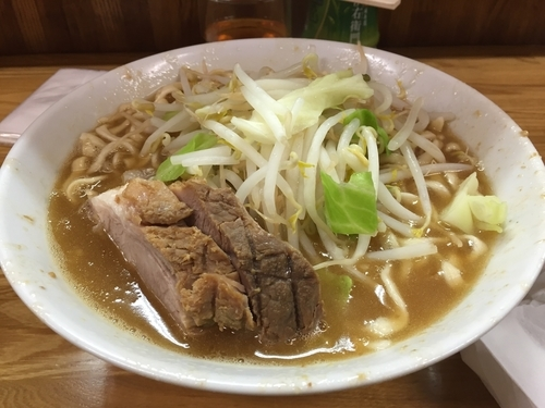 「小ラーメン 麺固め 700円」@ラーメン二郎 赤羽店の写真