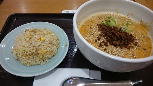 「空海麺セット(白胡麻坦々麺とミニチャーハン)」@麺屋 空海 イオンモール北戸田店の写真