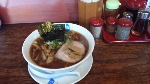 「きくらーめんセット700円(餃子3個+小ライス)」@麺処きくの写真