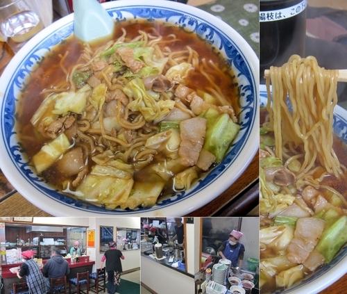 「スープ入り焼きそば(大)750円」@こばや食堂の写真