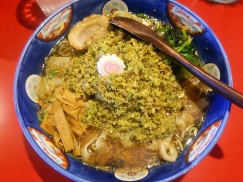 「餃子ラーメン(醤油)+帯麺」@ラーメン桐生 伊勢崎店の写真