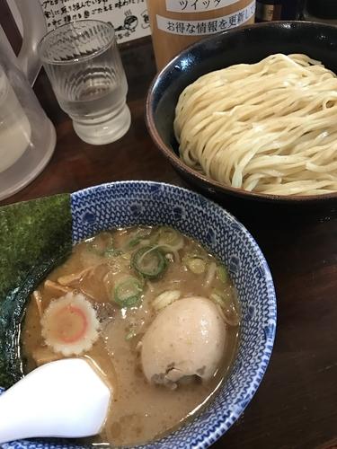 「味玉つけ麺(中盛・細麺)」@つけ麺 紅葉の写真
