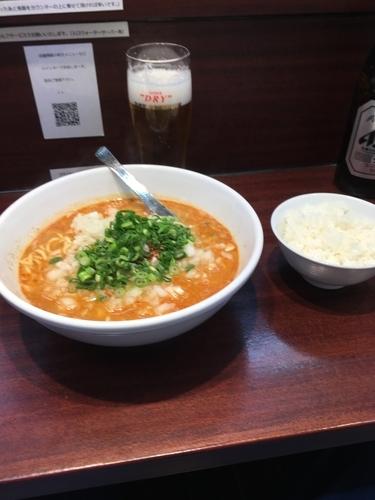 「担々麺ライス付き 850円」@麺屋 民のかまどの写真