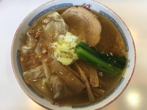 「塩味ワンタンメン(900円)+高菜丼(150円)」@支那そばや 相模原店の写真