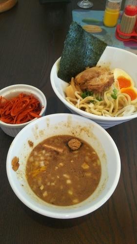 「特製つけ麺(あつもり)  辛ネギ」@麺屋みつばの写真
