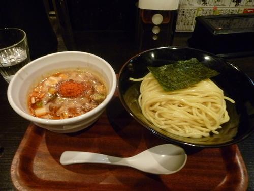 「辛いつけ麺」@つけ麺屋 しずくの写真