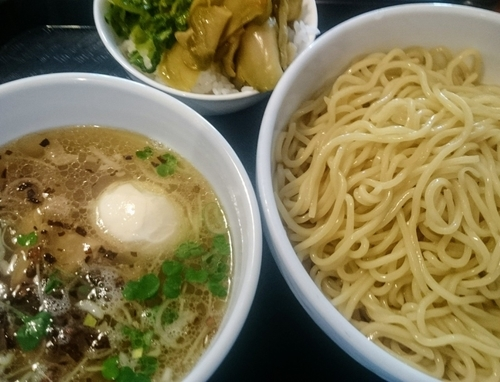 「塩つけめん(大盛り、半ライス無料)」@中華麺酒家 彩華の写真