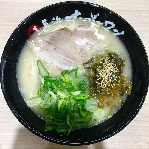 「辛子高菜らーめん (750円)」@長浜ナンバーワン 松山店の写真