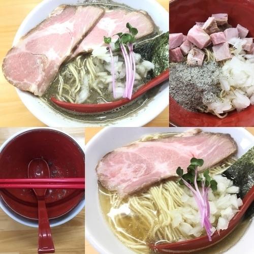「はじめの天夢+ちゃーしゅー+和え玉、100%煮干しラーメン」@めんや天夢の写真