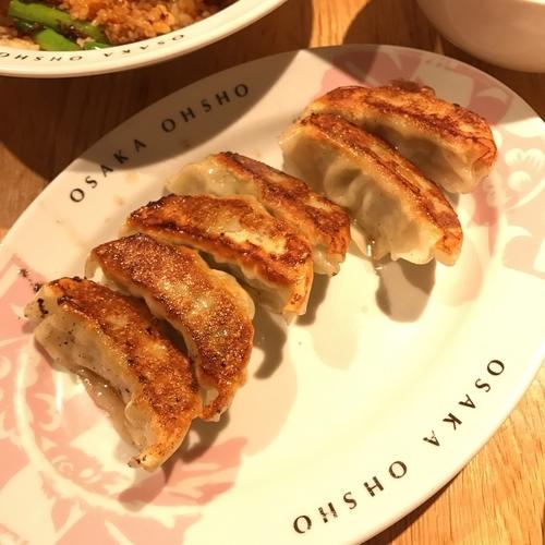 「大山鶏の鶏しそ餃子」@大阪王将 品川店の写真