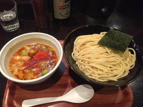「辛いつけ麺¥800」@つけ麺屋 しずくの写真