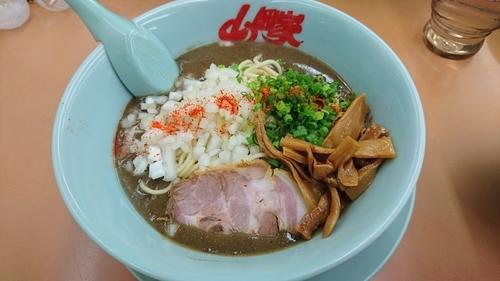 「【限定】鬼煮干しラーメン・・850円」@ラーメン山岡家 厚木店の写真