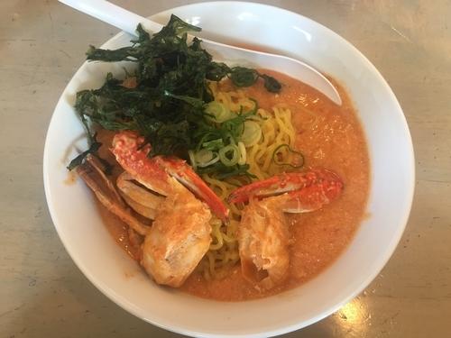 「限定 渡り蟹のタンタンメン+Aセット」@奴が愛したタンタンメン 近平家の写真